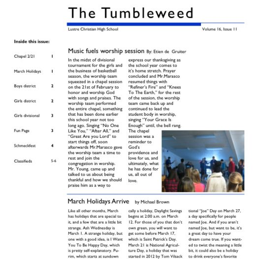 Tumbleweed – Issue 11