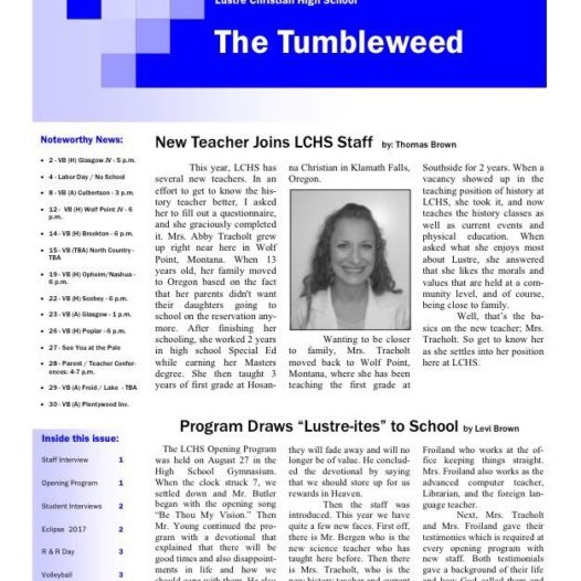 Tumbleweed – Issue 1