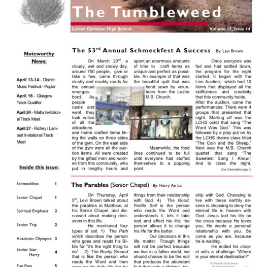 Tumbleweed – Issue 14