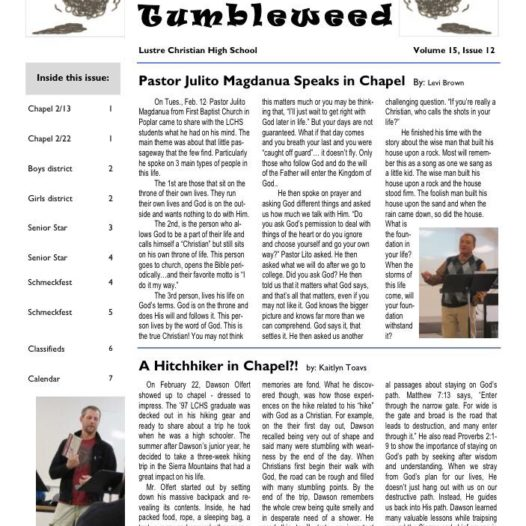 Tumbleweed – Issue 12