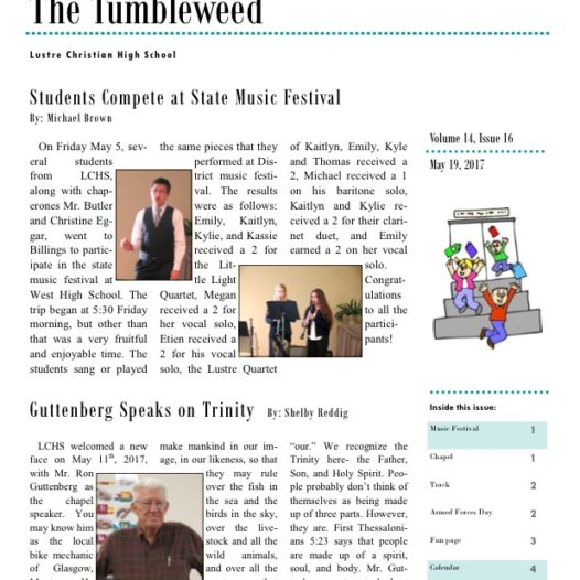 Tumbleweed – Issue 16