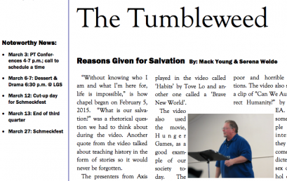 The Tumbleweed – Issue 13