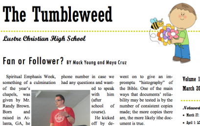 The Tumbleweed – Issue 15