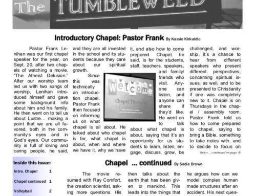 Tumbleweed – Volume 16, Issue 3